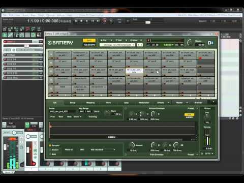 Metroid Metal Drum Programming in Reaper and Battery 3 - Tutorial