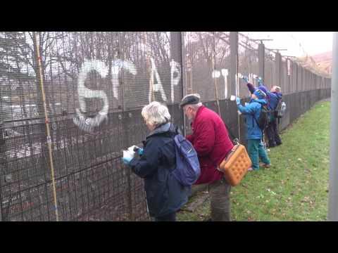 Fence Painting at Faslane