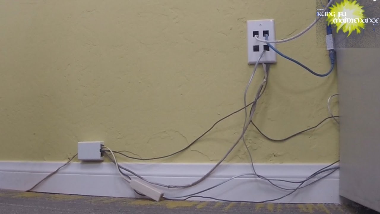 how to hide wiring cable ethernet telephone wires extension cords for professional install nice kit [ 1280 x 720 Pixel ]