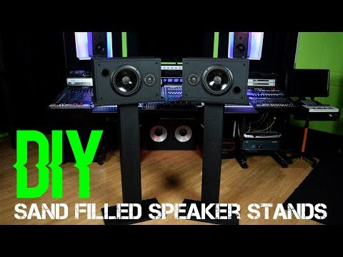DIY Sand Filled Speaker Stands