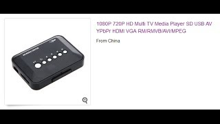Обзор 1080P HD USB HDMI Player(, 2013-12-09T08:06:42.000Z)