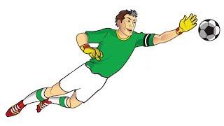 Football Goalkeeper Drawing