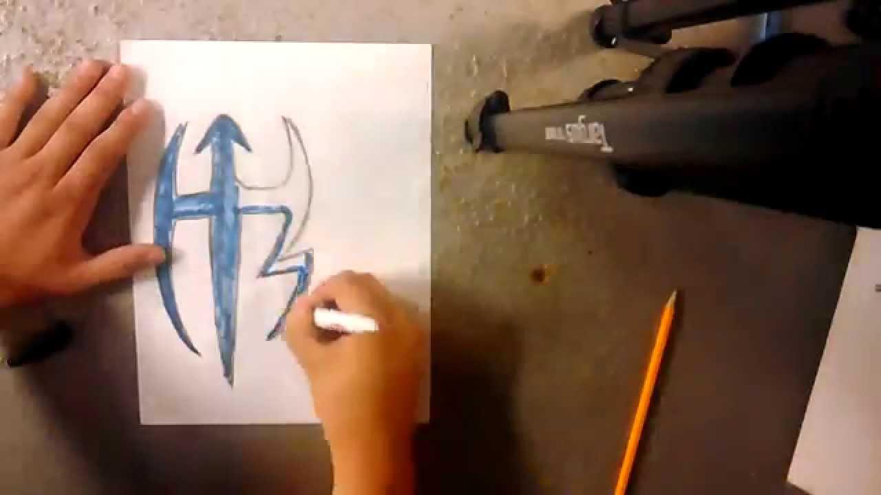 Wwe Jeff Hardy Symbol Drawing Youtube
