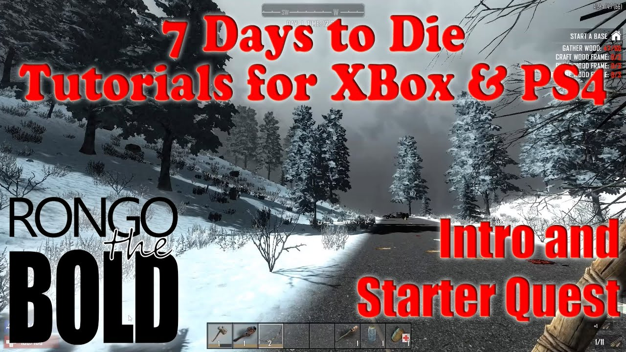 7 days to die tutorial series for ps4 xbox one intro for Cocinar en 7 days to die ps4