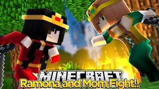 My Other Life #14-RAMONA AND MY MOM FIGHT (Minecraft Roleplay)
