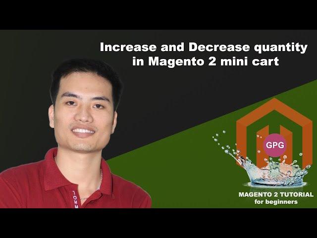 Increase and decrease quantity in Magento 2 mini cart