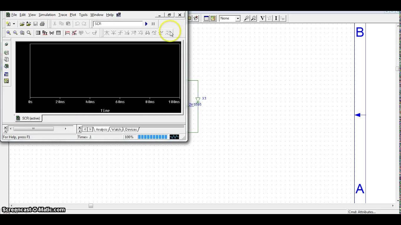Scr And Triac Characteristics Using Pspice 91 Schematics Youtube