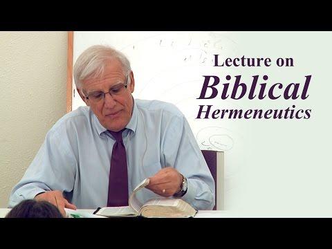 Lecture on Biblical Hermeneutics - Randy Pizzino