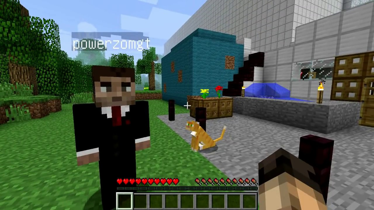 minecraft ma map piscine avec mon ami izemath