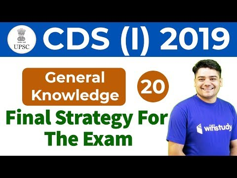 4:00 PM - UPSC CDS (I) 2019   GK by Sandeep Sir   Final Strategy For The Exam
