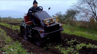 Стильный минитрактор из мотоблока МТЗ: пашем землю на зиму
