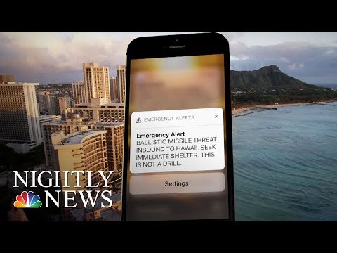 Hawaii 'Ballistic Missile Threat' Alert To Phones Was False Alarm, Officials Say | NBC Nightly News