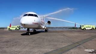 Bautismo tercer avión de Amaszonas Paraguay