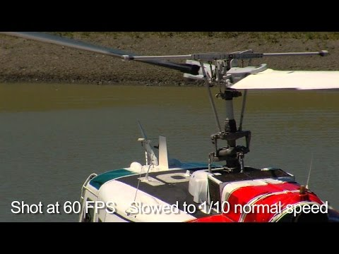 UH 1H Huey rotor blades in slow motion