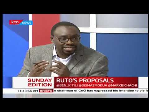Sunday Edition: DP Ruto new government proposals