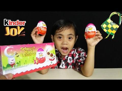 Dapat Kejutan Surprise Egg Kinder Joy Edisi Lebaran dari Bunda, Kira-kira Apa Yah Mainannya