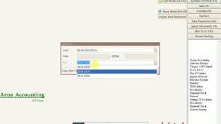 So Erstellen Sie Einen Neuen F. Y/ Aeon_ACCOUNTING Software / Priyank Varaiya / Von Aeon Group Infotech