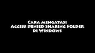 How To Fix Access Denied Sharing Folder Windows
