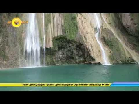 Yukarı Uçansu Çağlayanı 1 Şelalesi Uçansu Çağlayanları Doğa Sistemleri Gebiz Antalya 4K UHD