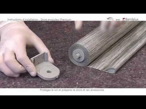 comment poser un store enrouleur sans coffre (ref. petit) ? - youtube