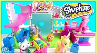Shopkins Small Mart - MLP Pinkie Pie Goes Shopping Skit - My Little Pony