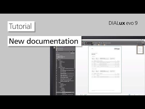 DIALux evo 9 Tutorial: New documentation
