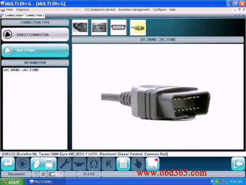 V2011C WAS Multi-Diag Bluetooth Truck Diagnostic Tool With Multi-language  Free Re-Activation