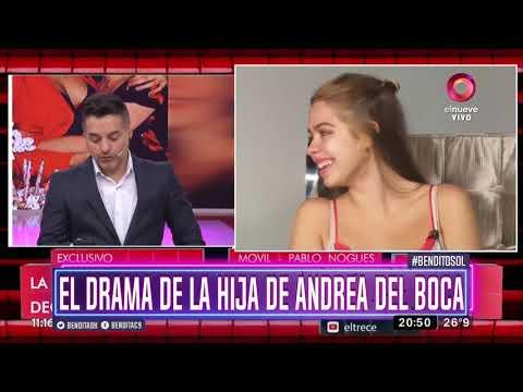El drama de la hija de Andrea del Boca