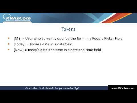 14 - Using tokens as default values - YouTube