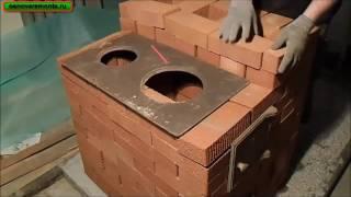 Подробная кладка печи за 9 тыс. руб. 2-часть