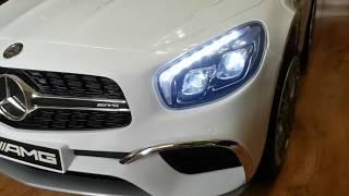 видео: MERCEDES BENZ AMG SL65 V12 электро автомобиль для детей с aliexpress