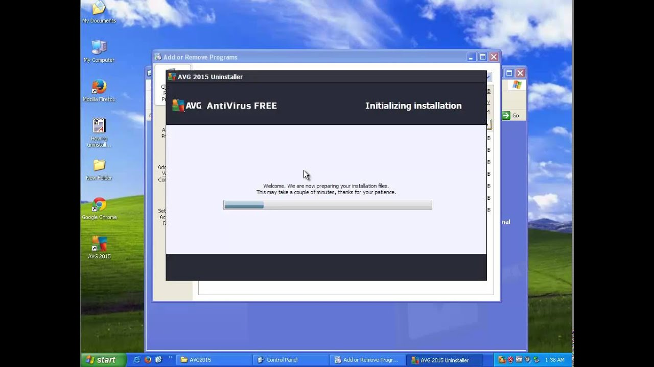 Uninstall AVG AntiVirus Free 2015