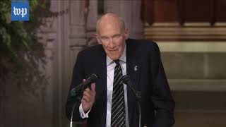 Memorable moments from George H W  Bush's D C  funeral