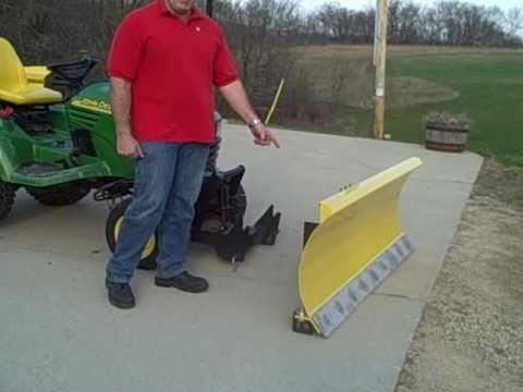 John Deere Quick Hitch On Arc 12 Ga Xl Snow Plow Youtube