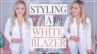 7 WAYS to WEAR a WHITE BLAZER | How to STYLE BASICS | Shannon Sullivan