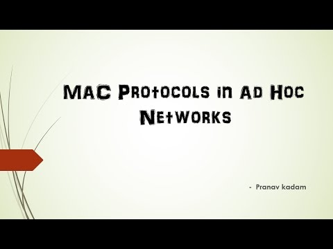 Difference Between all MAC protocols (Ad-Hoc networks)