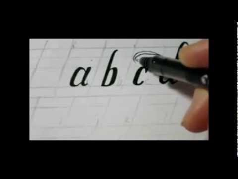 how to draw fancy letters swirly lower case letters