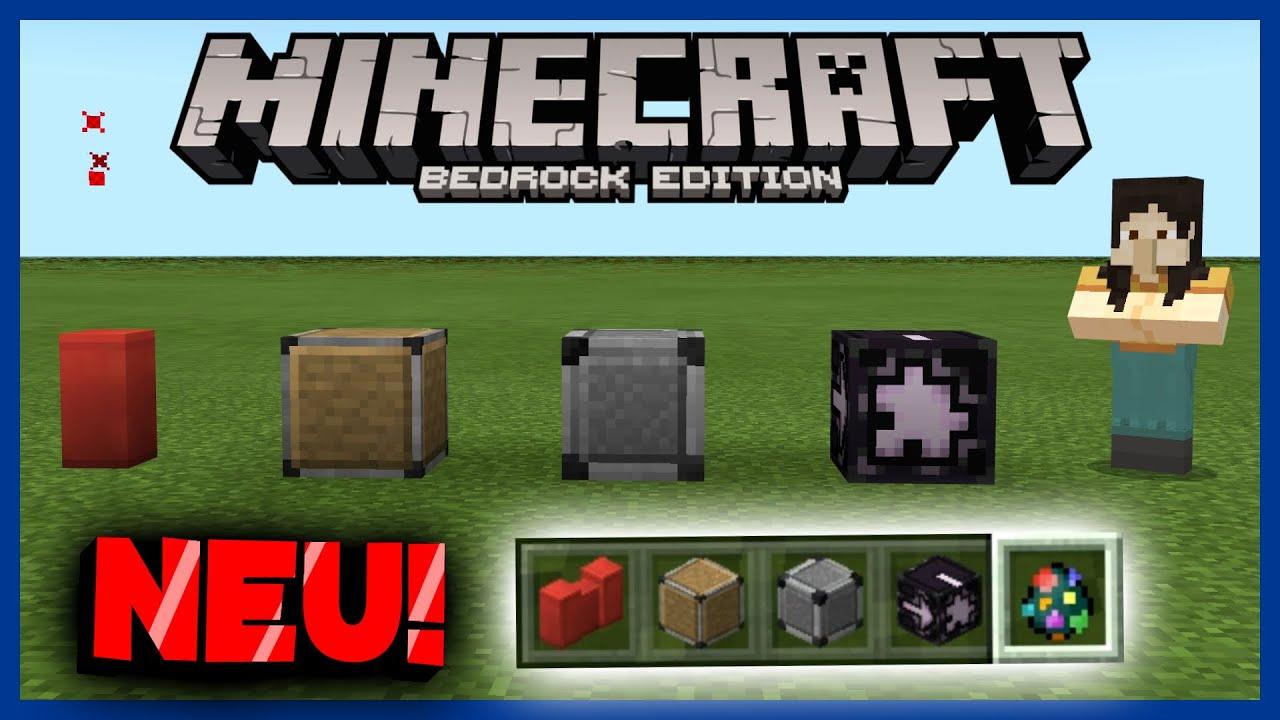 All New And Secret Blocks In Minecraft 1 16 Minecraft Bedrock Tutorial Youtube