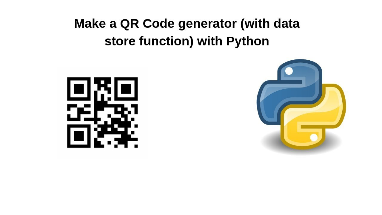 Store Text Data From a CSV File in QR Code using Python
