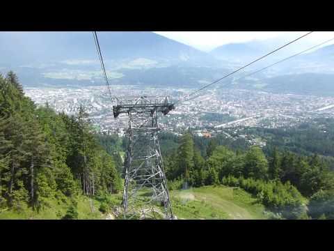 Riding the Nordkettenbahn Cablecar up from Innsbruck