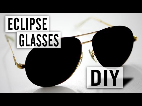 How to Make Your Own Solar Eclipse Glasses - Easy and Free DIY