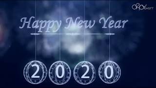 Happy New Year 2020 New Year Greeting Free New Year Motion graphic New Year Countdown
