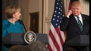 President Donald Trump holds a VITAL Press Conference with Angela Merkel of Germany