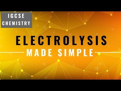 IGCSE CHEMISTRY REVISION [Syllabus 5] - Electrolysis