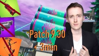 Update 9.30 in less than 3 minutes! (Fortnite Patch Note 9.30)
