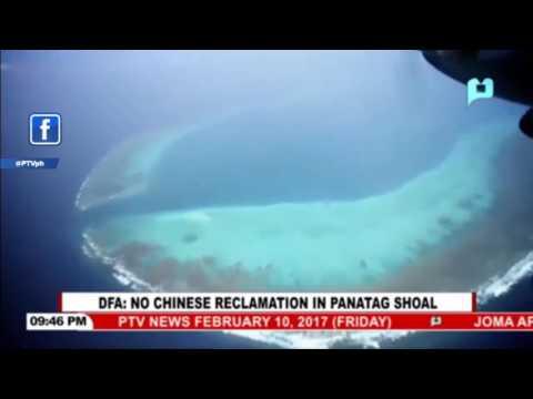 DFA: No Chinese reclamation in Panatag Shoal