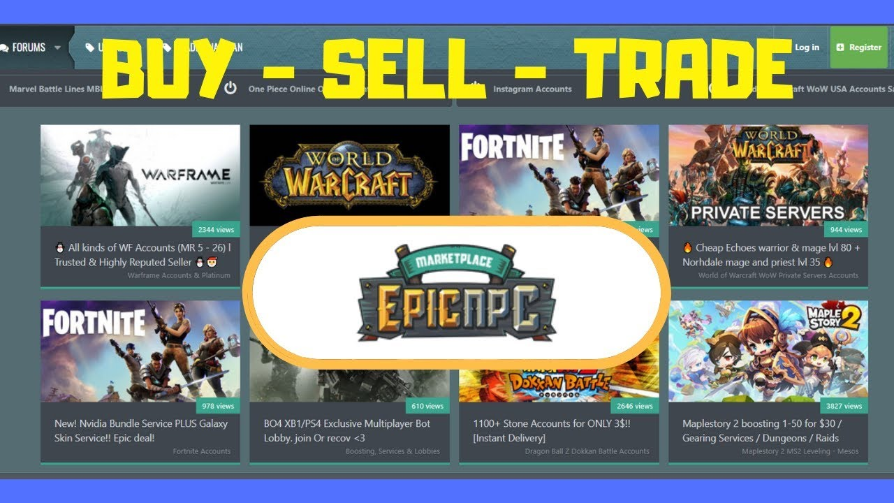 How to Sell Your Gaming Accounts to Make Money Online - Epic NPC