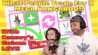 What People Trade For A MEGA KANGAROO!! Roblox Adopt Me Trading With Cammy's Guinea Pig!!