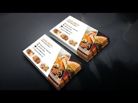 Fast Food Business Card - Photoshop Tutorial