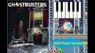 Ghostbusters Library Theme Java-MIDI Piano Version